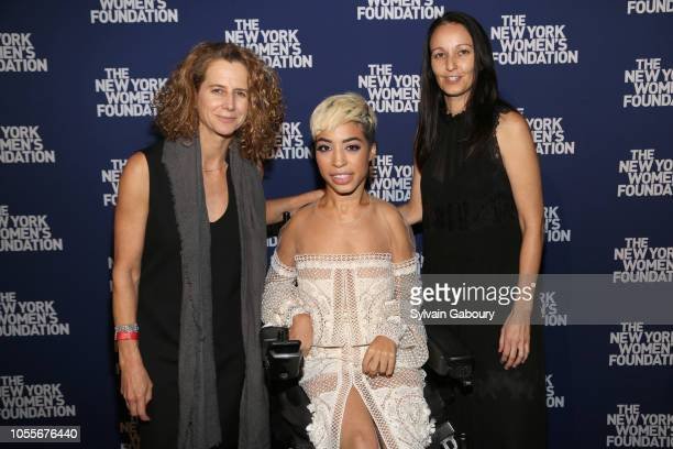 Adrienne Becker Jillian Mercado and Rachel Gould attend The New York Women's Foundation Radical Generosity Gala at The Plaza on October 15 2018 in...