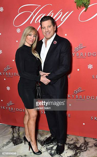 Adrienne Bolling and Eric Bolling attend SkyBridge Capital Holiday Celebration at Hunt Fish Club on December 14 2016 in New York City