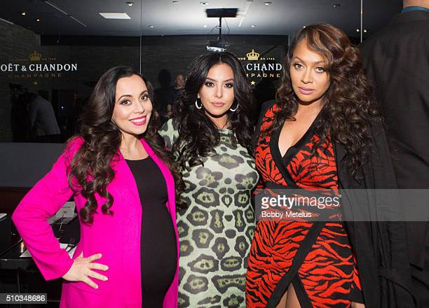Adrienne Bosh Vanessa Bryant and Lala Anthony at The Gentleman's Supper Club hosted by Chris Paul Dwyane Wade and Carmelo Anthony honoring Kobe...