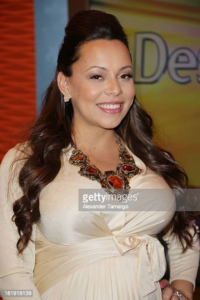 Adrienne Bosh visits Univision's 'Despierta America' morning show at Univision Headquarters on September 26 2013 in Miami Florida
