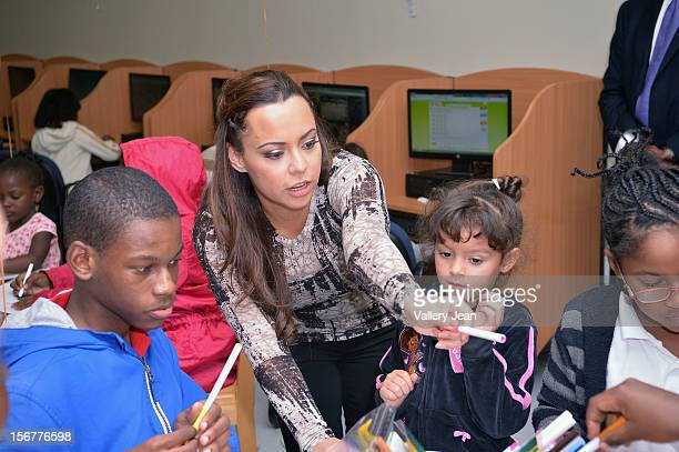 Adrienne Bosh with husband Chris Bosh and Team Tomorrow Inc team up for the 2nd year with Chapman Partnership to feed the local families of Miami...