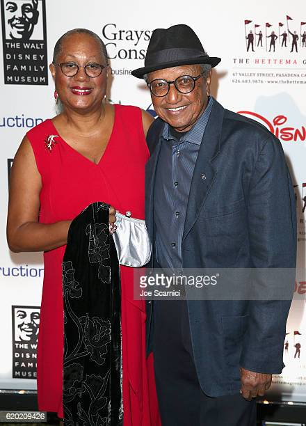 Adrienne Brown Norman and Disney Legend Floyd Norman attend The Walt Disney Family Museum's 2nd Annual Gala at Disney's Grand Californian Hotel Spa...