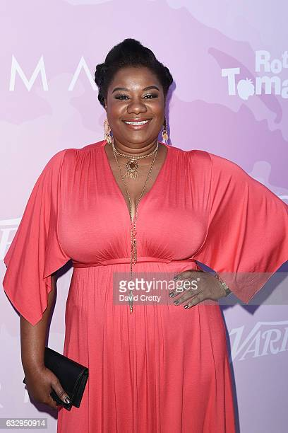 Adrienne C Moore arrives at Variety's Celebratory Brunch Event For Awards Nominees Benefiting Motion Picture Television Fund at Cecconi's on January...