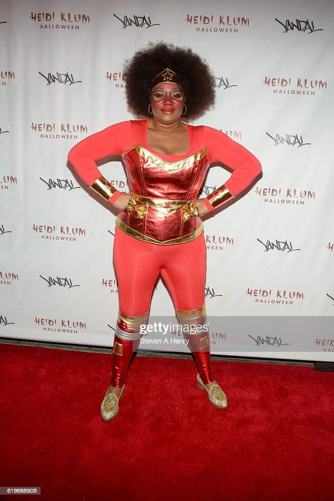 Adrienne C. Moore attends Heidi Klum's 17th Annual Halloween Party at Vandal on October 31, 2016 in New York City.