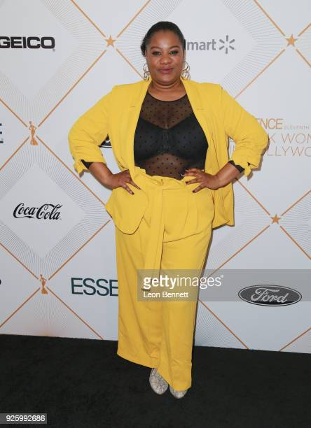Adrienne C Moore attends the 2018 Essence Black Women In Hollywood Oscars Luncheon at Regent Beverly Wilshire Hotel on March 1 2018 in Beverly Hills...