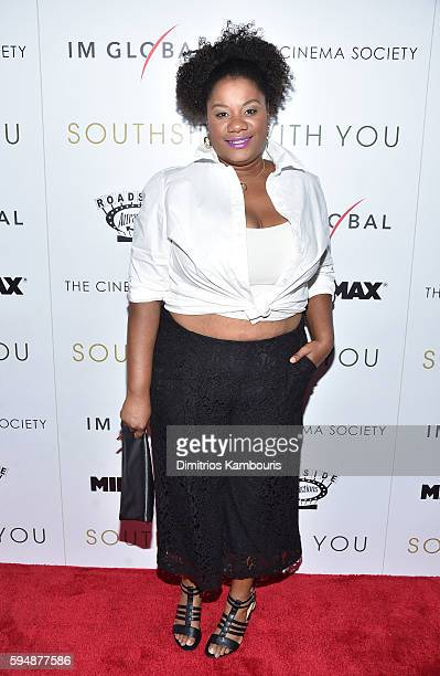 Adrienne C Moore attends the Cinema Society screening of Southside With You hosted by Miramax Roadside Attractions and IM Global at Landmark's...
