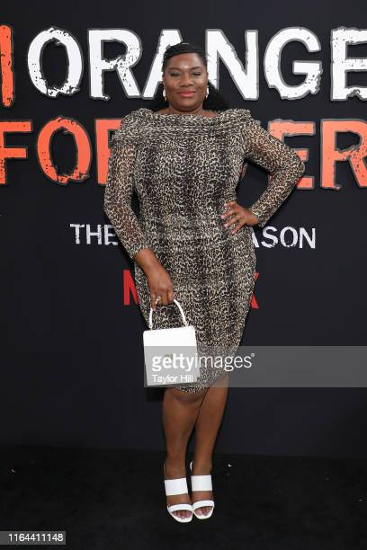 Adrienne C Moore attends the Orange is the New Black final season world premiere at Alice Tully Hall Lincoln Center on July 25 2019 in New York City