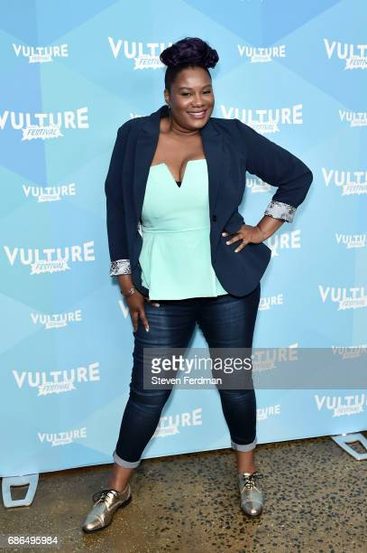 Adrienne C Moore attends the Pop Culture Trivia Game Show during Vulture Festival at Milk Studios on May 21 2017 in New York City