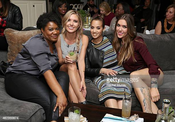 Adrienne C Moore Audrina Patridge Dascha Polanco and Casey Patridge attend Snoop Dogg and Cuca Fresca Cachaca launch their first national campaign...