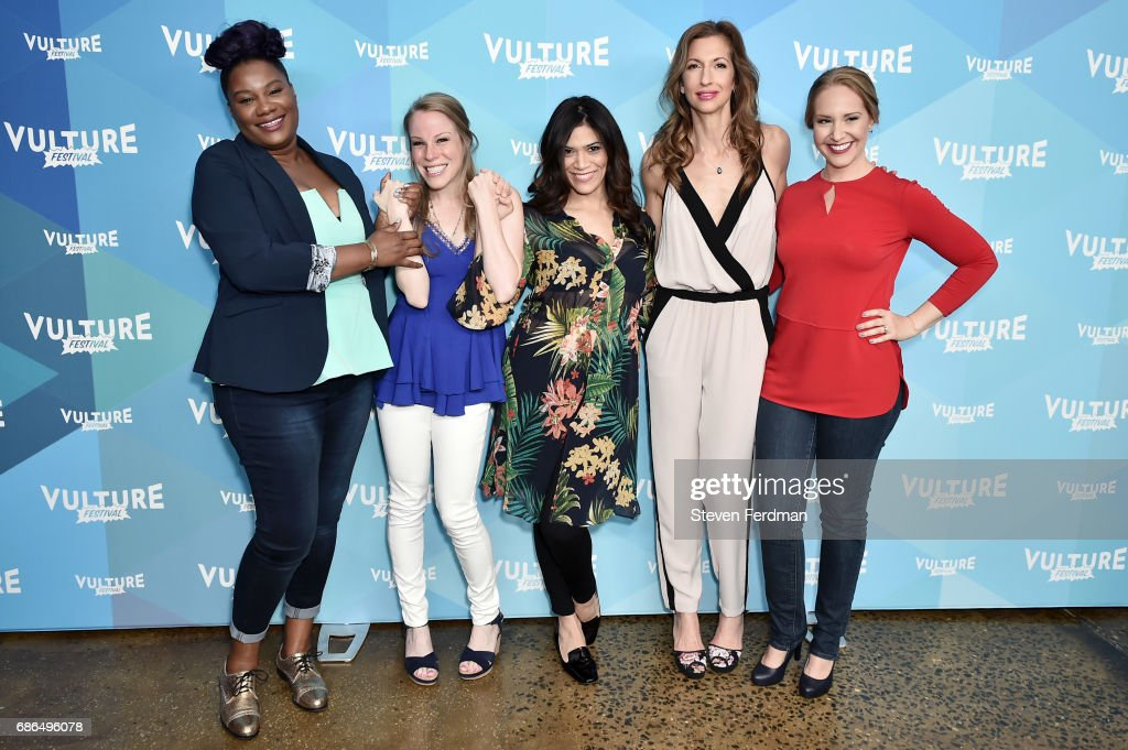 Adrienne C. Moore, Emma Miles, Laura Gomez, Alysia Reiner, and Kelly Karbacz attend the Pop Culture Trivia Game Show during Vulture Festival at Milk Studios on May 21, 2017 in New York City.