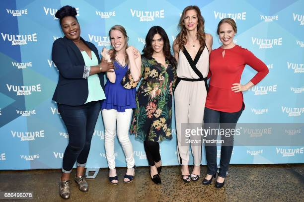 Adrienne C Moore Emma Miles Laura Gomez Alysia Reiner and Kelly Karbacz attend the Pop Culture Trivia Game Show during Vulture Festival at Milk...
