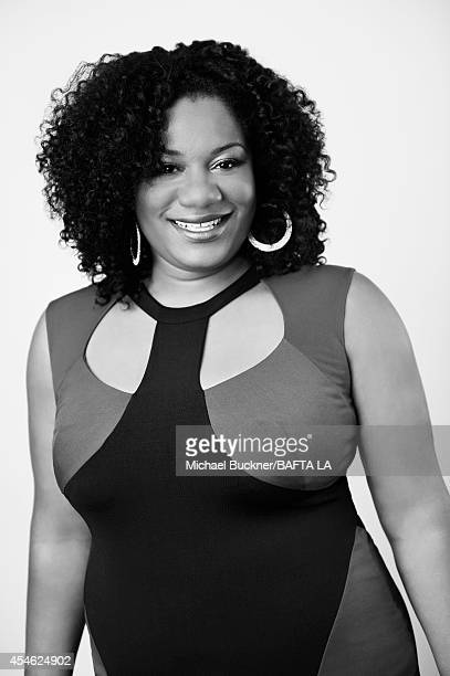 Adrienne C Moore poses for a portrait at the BAFTA luncheon on August 23 2014 in Los Angeles California