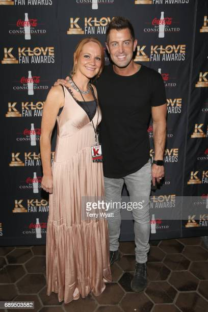 Adrienne Camp and Jeremy Camp arrive at the 5th Annual KLOVE Fan Awards at The Grand Ole Opry on May 28 2017 in Nashville Tennessee