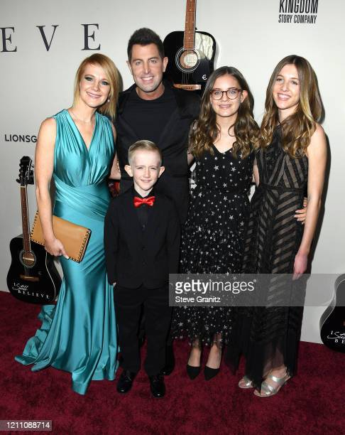 """Adrienne Camp and Jeremy Camp arrives at the Premiere Of Lionsgate's """"I Still Believe"""" at ArcLight Hollywood on March 07, 2020 in Hollywood,..."""