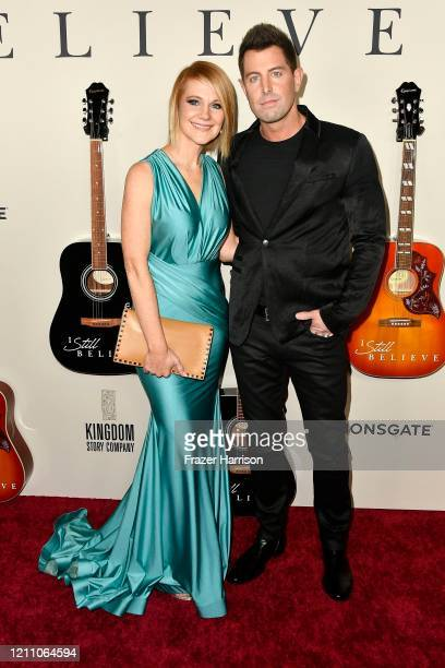 Adrienne Camp and Jeremy Camp attend the premiere of Lionsgate's I Still Believe at ArcLight Hollywood on March 07 2020 in Hollywood California