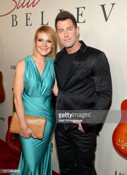"""Adrienne Camp and Jeremy Camp attend the premiere of Lionsgate's """"I Still Believe"""" at ArcLight Hollywood on March 07, 2020 in Hollywood, California."""