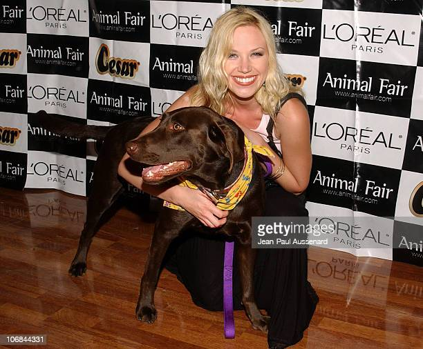 Adrienne Frantz and her dog during Animal Fair's 6th Annual Paws for Style Pet Fashion Show and Gala Charity Auction Arrivals at Loews Beverly Hills...