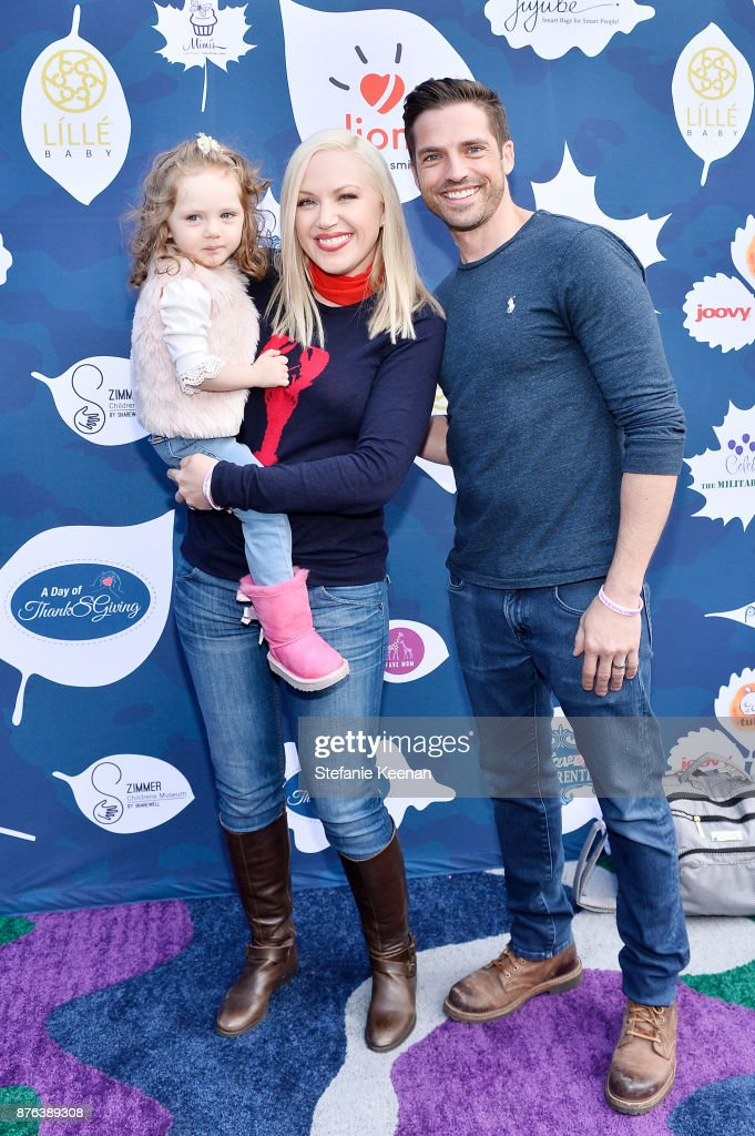 Adrienne Frantz and Scott Bailey attend Diono Presents Inaugural A Day of Thanks and Giving Event at The Beverly Hilton Hotel on November 19, 2017 in Beverly Hills, California.