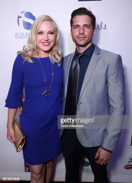 Adrienne Frantz and Scott Bailey attend National Breast Cancer Coalition Fund's 17th Annual Les Girls Cabaret at Avalon Hollywood on October 15 2017...