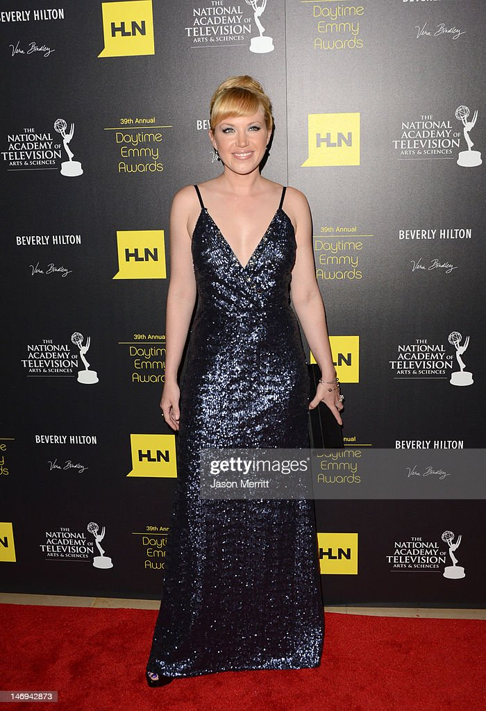 Adrienne Frantz arrives at The 39th Annual Daytime Emmy Awards broadcasted on HLN held at The Beverly Hilton Hotel on June 23, 2012 in Beverly Hills, California. (Photo by Jason Merritt/WireImage) 22542_002_JM_0717.JPG
