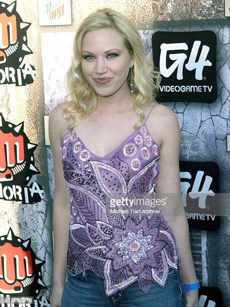 Adrienne Frantz during GPhoria 2005 The Mother of All Videogame Award Shows Arrivals at Los Angeles Center Studios in Los Angeles California United...