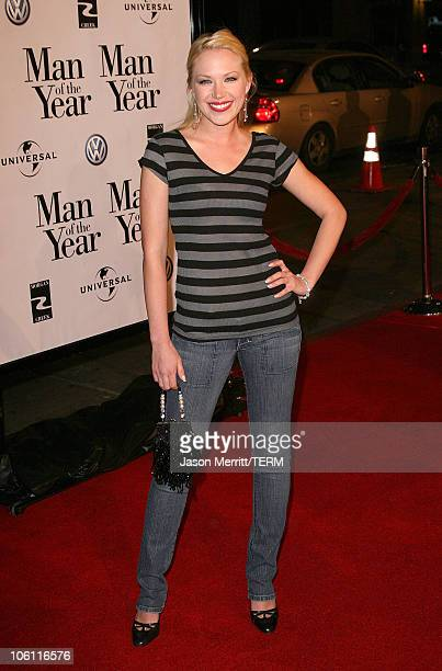 Adrienne Frantz during Man of the Year Los Angeles Premiere Arrivals at Mann's Chinese Theater in Hollywood California United States