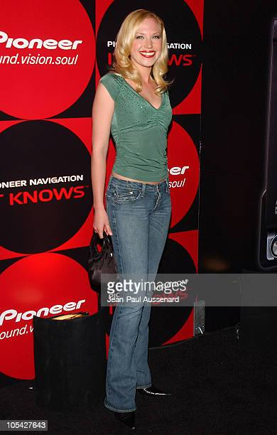 Adrienne Frantz during Pioneer Electronics Automotive Navigation Systems Launch Party Arrivals at Montmartre Lounge in Hollywood California United...