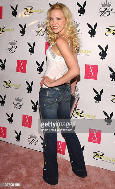 Adrienne Frantz during Playboy July 2005 Issue Release Party for Cover Model Joanna Krupa at Montmartre Lounge in Hollywood California United States