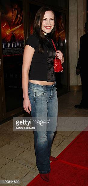 Adrienne Frantz during 'Timeline' World Premiere Red Carpet Arrivals at Mann's National Theatre in Westwood California United States