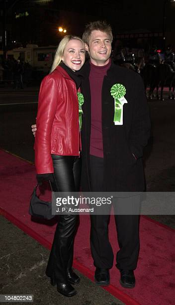 Adrienne Frantz Justin Torkildsen during 70th Hollywood Christmas Parade at Hollywood Boulevard in Hollywood California United States