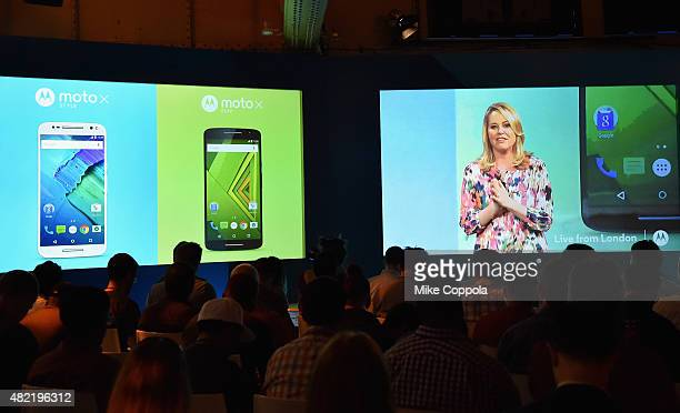 Adrienne Hayes Senior Vice President Marketing and Communications introduces the new Moto X Play and Moto X Style smartphones from a global...