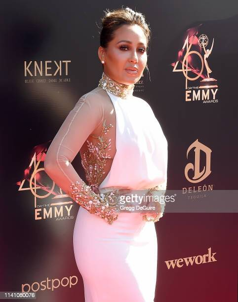 Adrienne Houghton arrives at the 46th Annual Daytime Creative Arts Emmy Awards at Pasadena Civic Center on May 3 2019 in Pasadena California