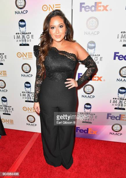 Adrienne Houghton at the 49th NAACP Image Awards NonTelevised Awards Dinner at the Pasadena Conference Center on January 14 2018 in Pasadena...