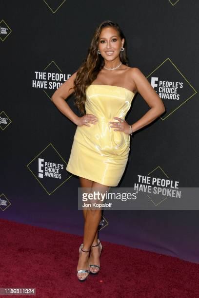 Adrienne Houghton attends the 2019 E People's Choice Awards at Barker Hangar on November 10 2019 in Santa Monica California