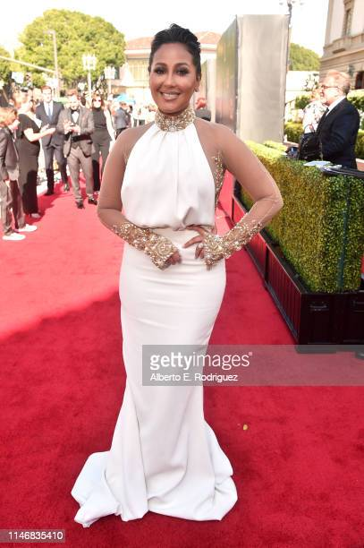 Adrienne Houghton attends the 46th annual Daytime Creative Arts Emmy Awards at Pasadena Civic Center on May 03, 2019 in Pasadena, California.