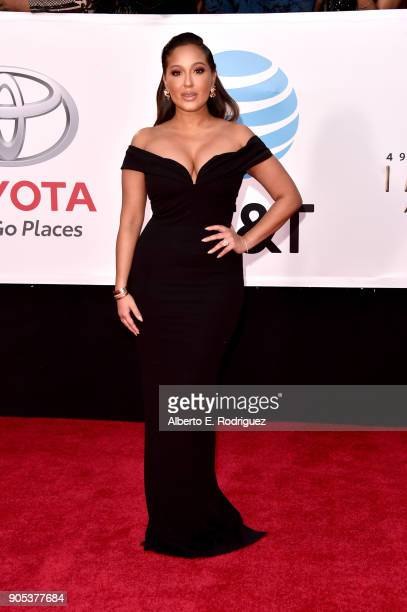 Adrienne Houghton attends the 49th NAACP Image Awards at Pasadena Civic Auditorium on January 15 2018 in Pasadena California