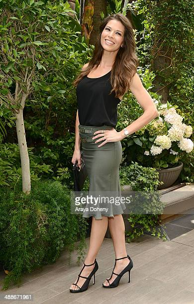 Adrienne Janic attends The Associates for Breast and Prostate Cancer Studies annual mother's day luncheon at Four Seasons Hotel Los Angeles at...