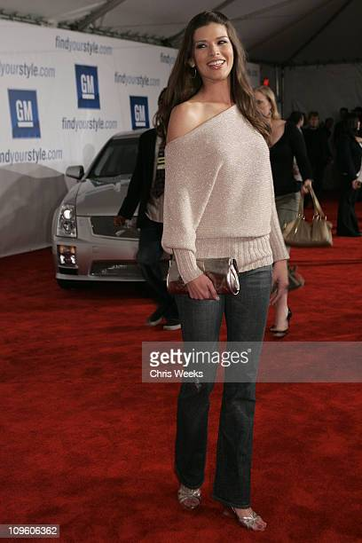 Adrienne Janic during General Motors Annual ten Celebrity Fashion Show Red Carpet at 1540 Vine Street in Los Angeles California United States