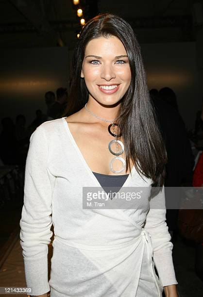 Adrienne Janic front row at 2ist Fall 2007 during MercedesBenz Fall 2007 LA Fashion Week at Smashbox Studios 2ist Backstage and Front Row at Smashbox...