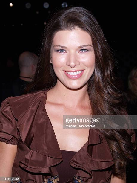 Adrienne Janic front row at Single Spring 2007 during MercedesBenz Spring 2007 Los Angeles Fashion Week at Smashbox Studios Single Front Row and...