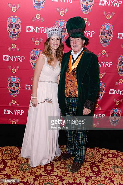 Adrienne Lufkin and Dan Lufkin attend Bette Midler's Annual Hulaween Bash celebrating the New York Restoration Project at the Waldorf=Astoria on...