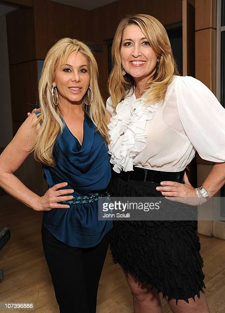 Adrienne Maloof and Wendy Burch attend the fitperezcom holiday health bash on December 7 2010 in Los Angeles California