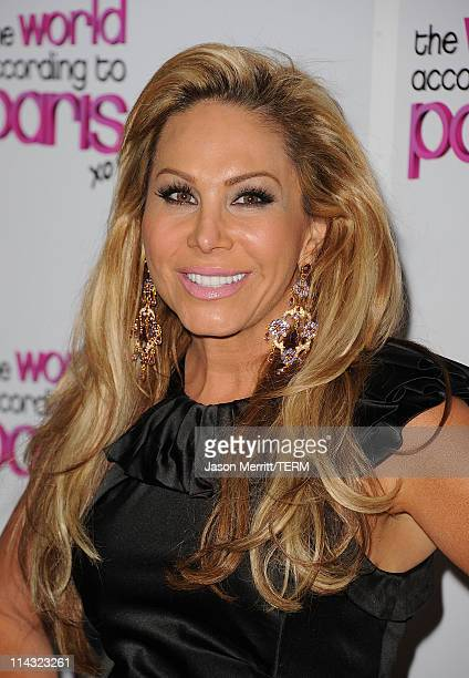 Adrienne Maloof arrives at the premiere of Oxygen's new docuseries The World According to Paris at Tropicana Bar at The Hollywood Roosevelt Hotel on...