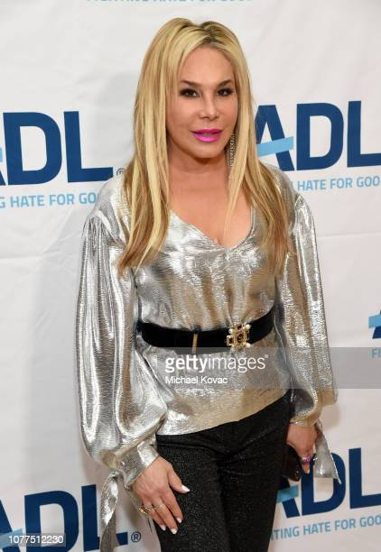 Adrienne Maloof attends the AntiDefamation League's Annual Gala Celebration at The Beverly Hilton Hotel on December 04 2018 in Beverly Hills...