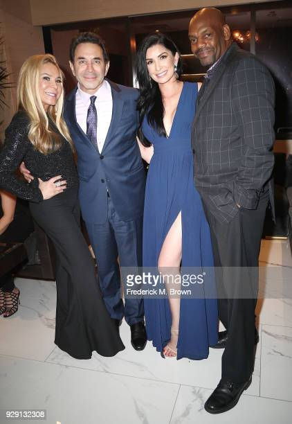 Adrienne Maloof Dr Paul Nassif Brittany Pattakos and a guest arrive for Dr Paul Nassif unveils his new medical spa with grand opening and ribbon...