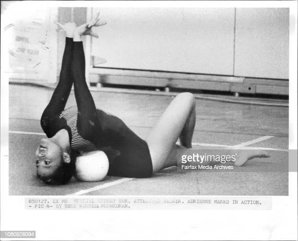 Adrienne Marks in actionAdrienne Marks 16yr old Canadian Gymnast Adrienne Marks January 27 1985