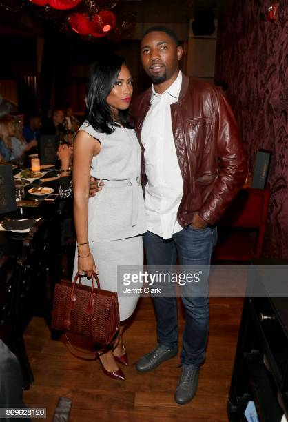 Adrienne Mason and Roger Mason Jr attend The MVP Experience Launch Dinner hosted by The House of Remy Martin at Tao on November 2 2017 in Los Angeles...