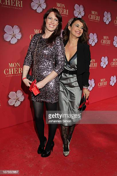 Adrienne McQueen and Gitta Saxx attend the 'Barbara Day 2010' Charity Gala at Haus der Kunst on December 4, 2010 in Munich, Germany.