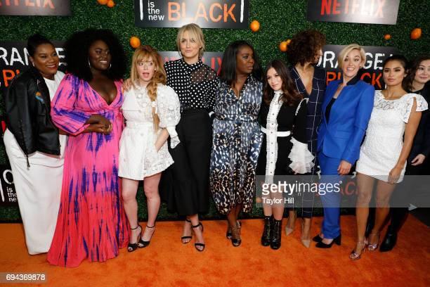 Adrienne Moore Danielle Brooks Natasha Lyonne Taylor Schilling Uzo Aduba Yael Stone Jackie Cruz Lauren Morelli and Diane Guerrero attend the Season 5...