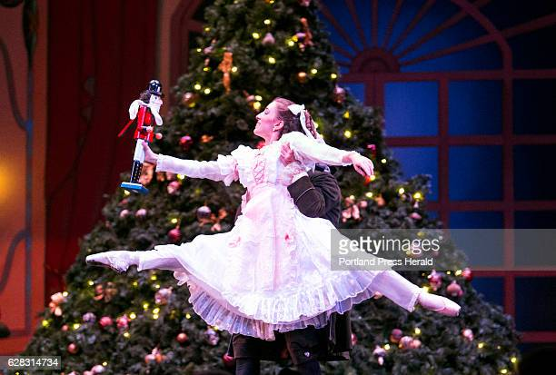 Adrienne Pelletier performs the part of Clara during a dress rehearsal for the Maine State Ballet's 40th anniversary production of The Nutcracker The...